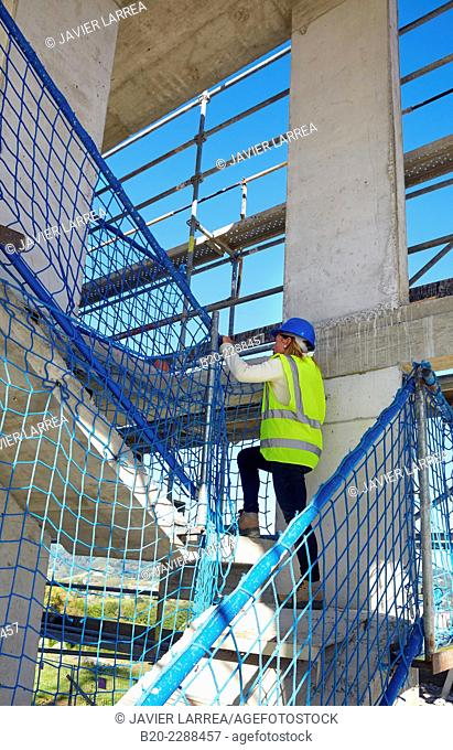 Security System Work RESA. Protection in building work in construction. System that eliminates the possibility of people falling in the works