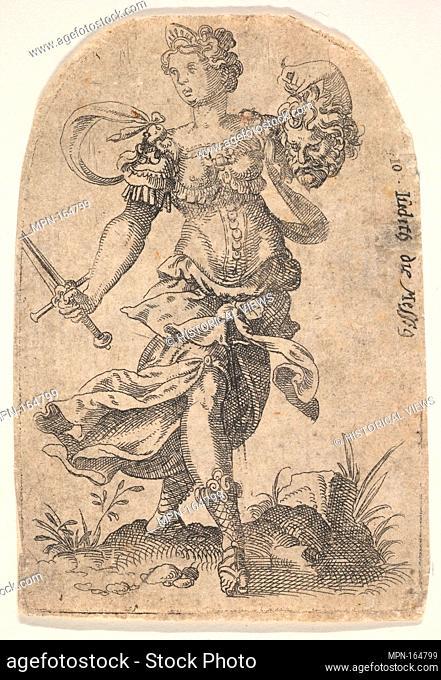 Judith, from Celebrated Women of the Old Testament. Artist: Jost Amman (Swiss, Zurich before 1539-1591 Nuremberg); Date: 1568-96; Medium: Etching; second state...