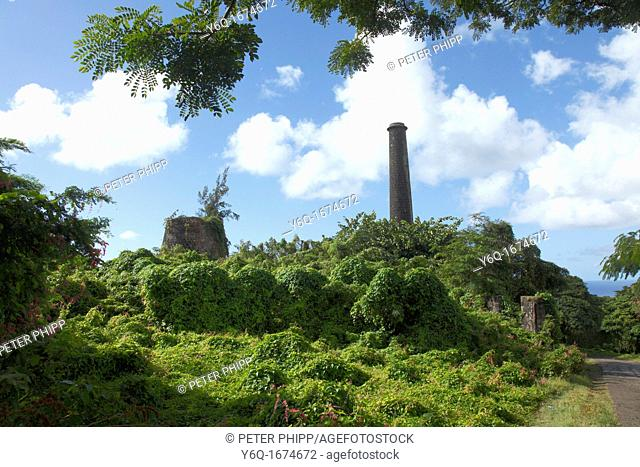 Old Sugar Mill at Nevis in the Caribbean