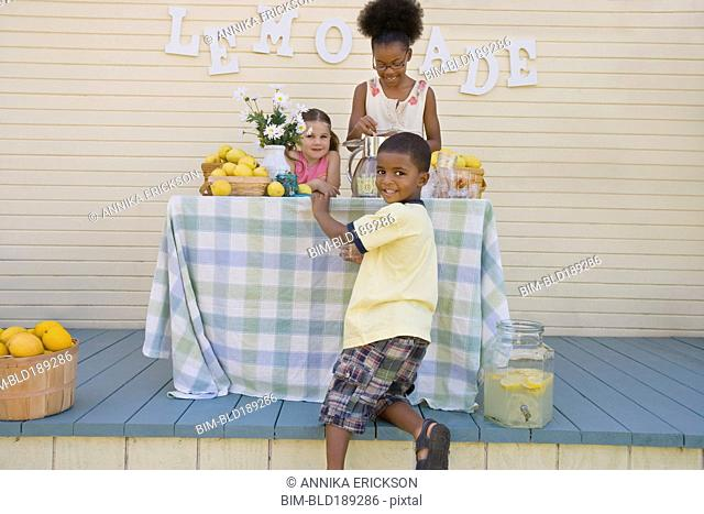 Children at lemonade stand
