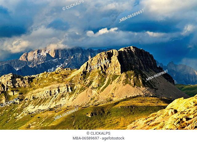Europe, Italy, Trentino, Trento, Rolle pass, Castellazzo mount views from Cavallazza (Lagorai)