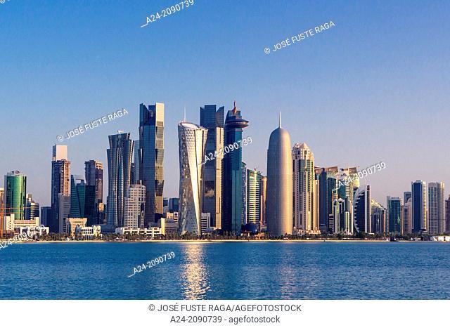 Qatar , Doha City, West bay Skyline