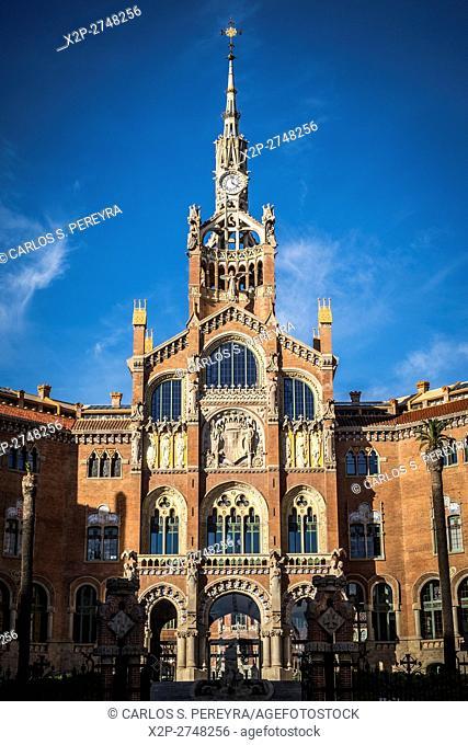 Sant Pau hospital, modernist architecture in Barcelona, Catalonia, Spain