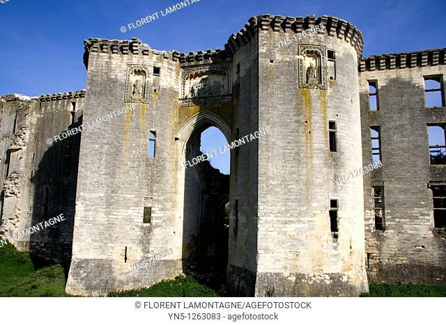 France, Picardie province, Aisne, Ferté Milon, Castle of La Ferté Milon, town where the french author Jean Racine was born