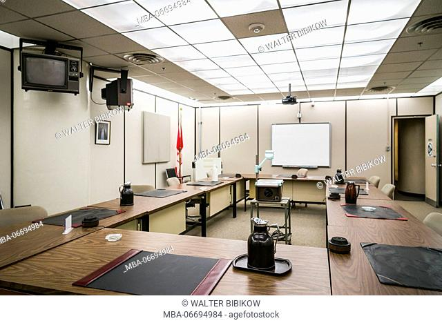 Canada, Ontario, Carp, The Diefenbunker, Canadian Cold War Museum in underground bunker, situation room