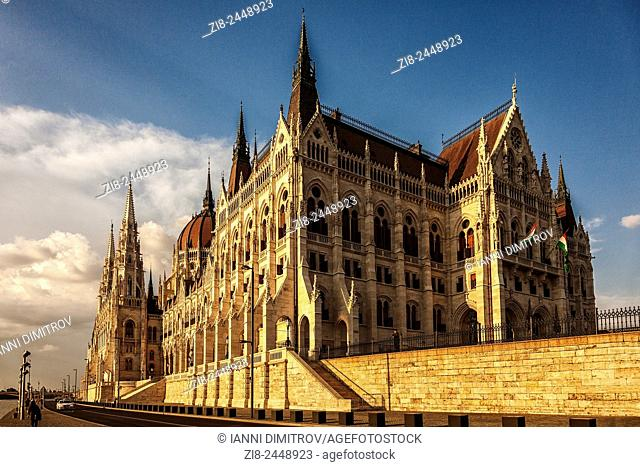 The Hungarian Parliament Building,Budapest,Hungary