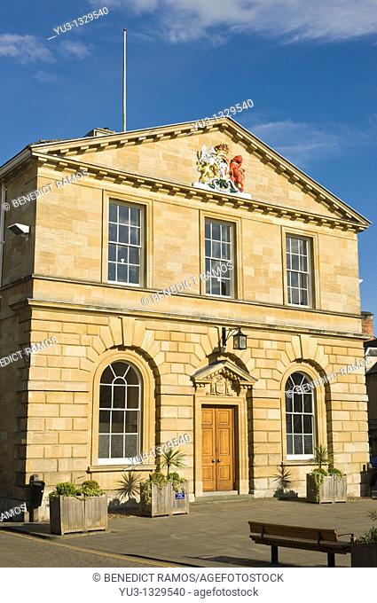 Woodstock town hall designed by William Chambers RA, Woodstock, Oxfordshire, England, UK