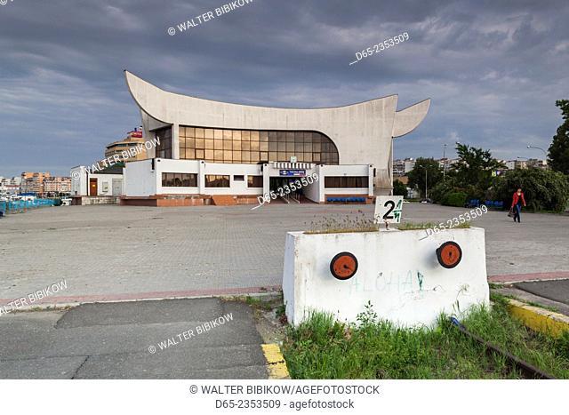 Romania, Danube River Delta, Tulcea, Tulcea Railroad Station
