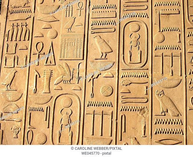 Heiroglyphs at Karnak