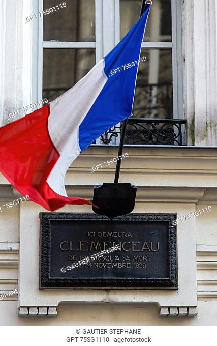 THE CLEMENCEAU MUSEUM IS SET OUT IN GEORGES CLEMENCEAU'S LAST HOUSE WHERE HE LIVED UNTIL HIS DEATH ON NOVEMBER 24, 1929, 16TH ARRONDISSEMENT, PARIS (75)