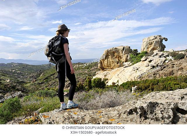 remarkable rock called 'the camel' Pla de Tudela Cap Creus Costa Brava, Catalonia, Spain, Europe