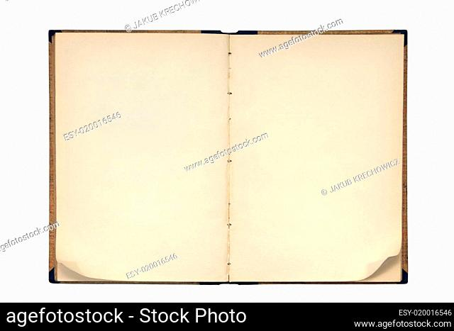 Open book with folded page corners