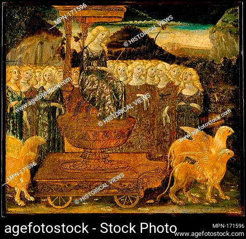 Goddess of Chaste Love. Artist: Francesco di Giorgio Martini (Italian, Siena 1439-1501 Siena); Date: 1468-75; Medium: Tempera and gold on wood; Dimensions: 15...