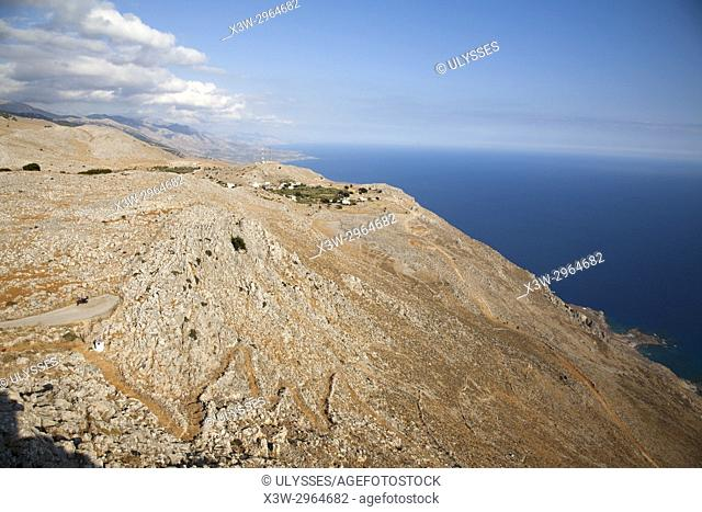 Area of Sfakia village, view from the church of Agia Eketerini in direction of Sfakia, Crete island, Greece, Europe