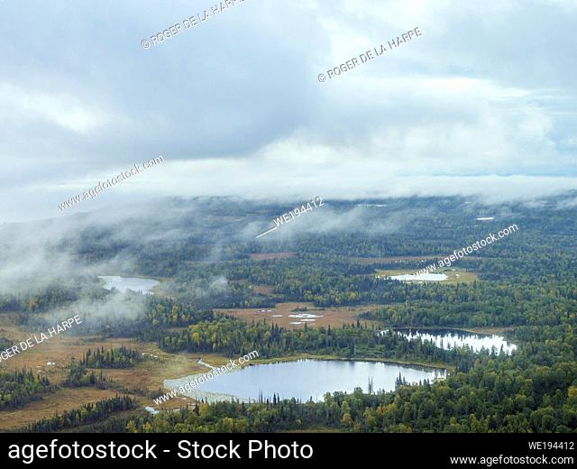 Aerial view of South Central Alaska. United States of America (USA)