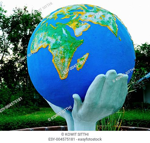 Hands holdings a globe