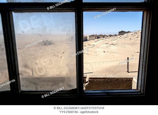 Windows in Kolmanskop Ghost Town - Luderitz, Namibia, Africa