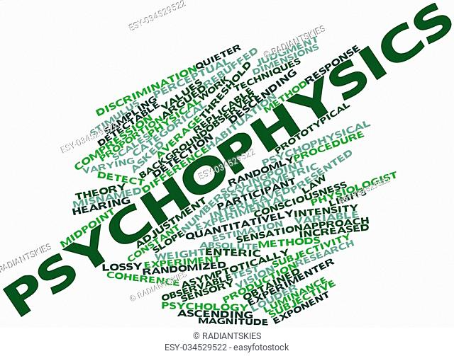 Abstract word cloud for Psychophysics with related tags and terms