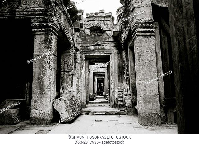 The Temple of Preah Kahn at The Temples of Angkor in Cambodia