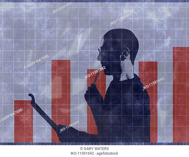 Man analysing finances