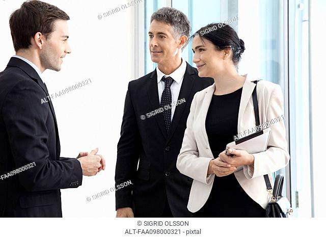 Business associates chatting