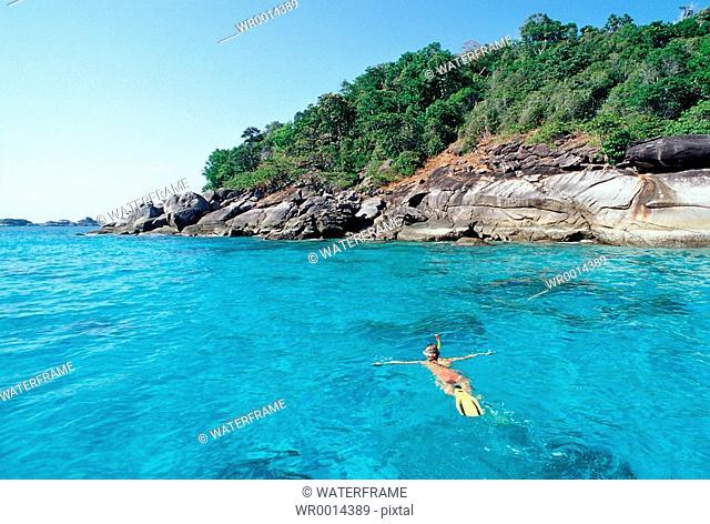 Snorkeling at Thailand, Similan Islands, Thailand