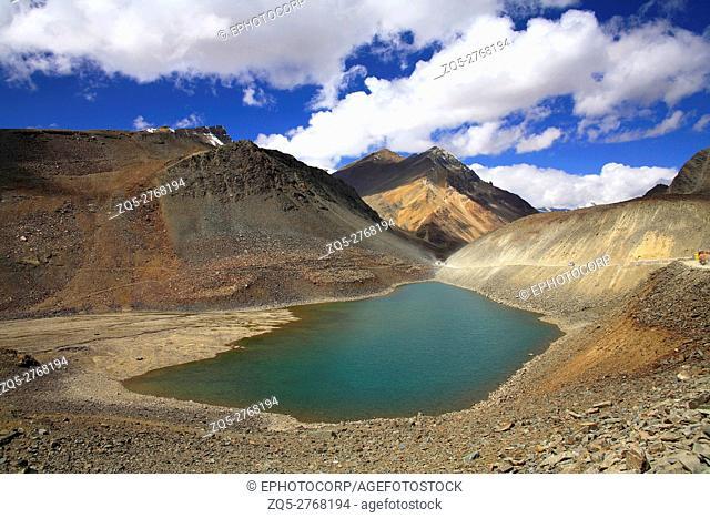 Small lake called Suraj tal, Himachal Pradesh, India