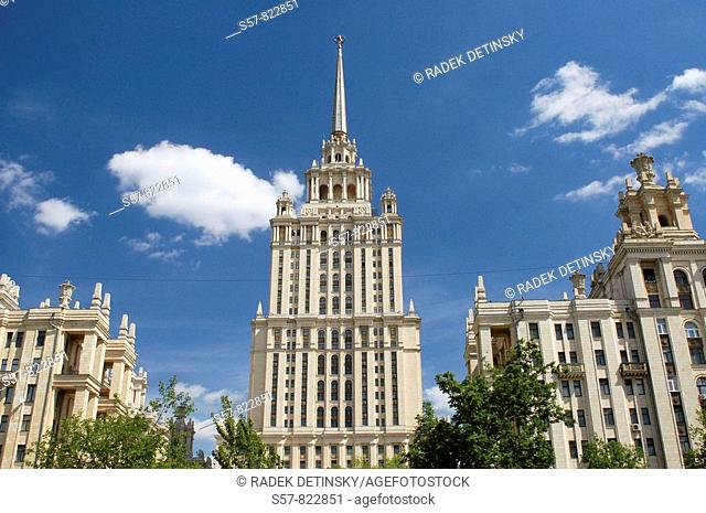 Stalinist architecture, Ukraina Hotel, Moscow, Russia