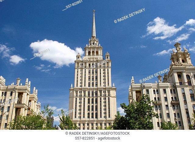 Stalinist architecture, Ukraina Hotel, Moscow, Russia