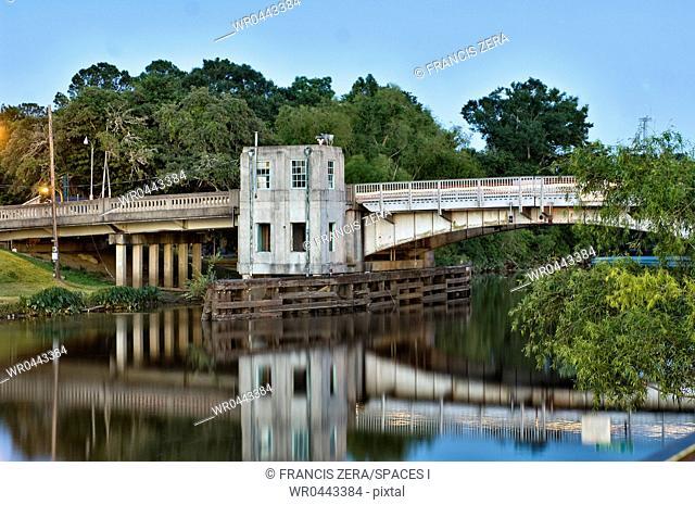 Concrete Bridge Over a River