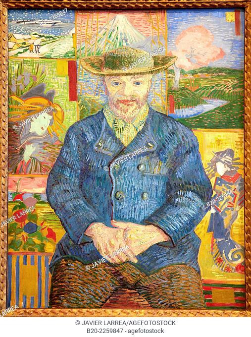 Portrait of Pere Tanguy. Vincent Van Gogh. Rodin Museum. Paris. France
