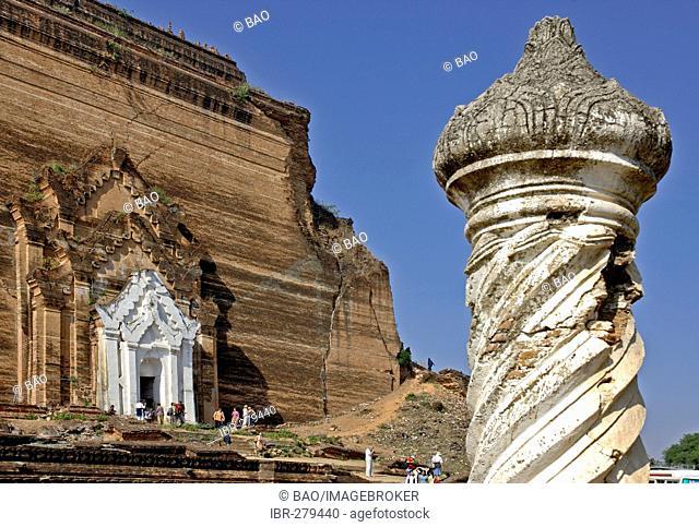 Mantara-gyi-Pagoda at Mingun, Myanmar, Burma