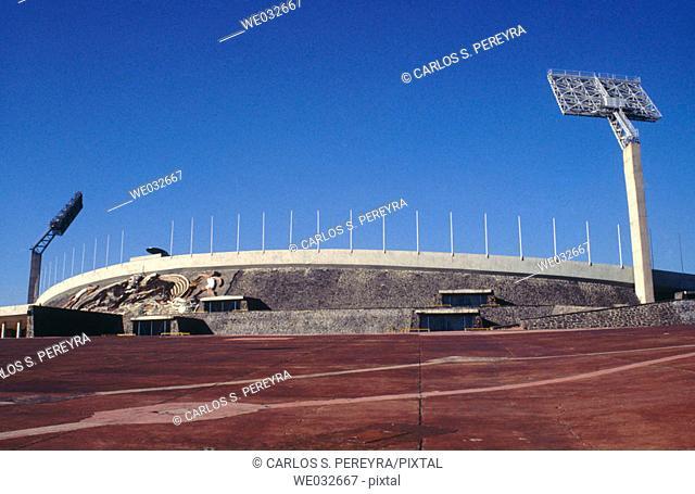 Olympic stadium, National Autonomous University of Mexico (Spanish: Universidad Nacional Autónoma de México, abbreviated as UNAM)
