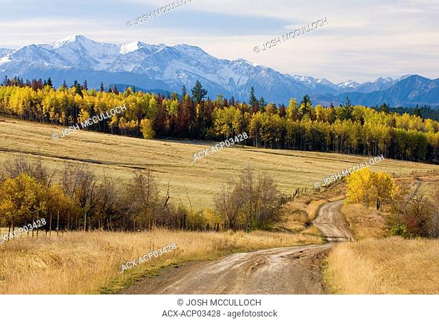 Fall Colours and the Coast Mountains near Clinton, british columbia, canada