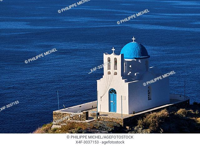 Greece, Cyclades islands, Sifnos, Seven Martyrs chapel, Kastro village