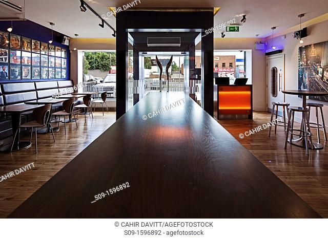 The interior of the Gotham South Restaurant and Cafe, Kilmacud Road Lower, Stillorgan, County Dublin, Ireland