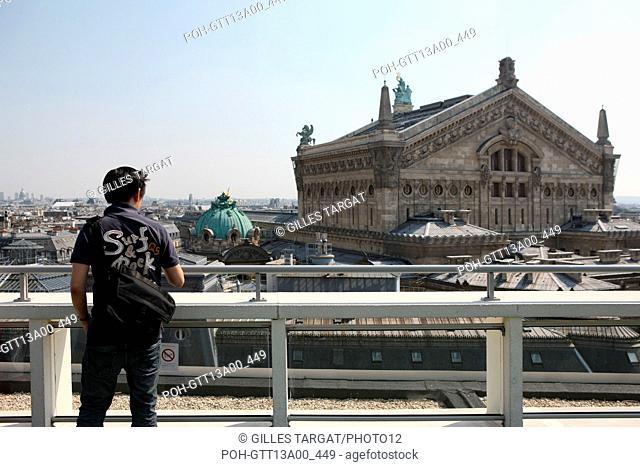 France, ile de france, paris 10e, 40 boulevard haussmann, galeries lafayette, terrasse, vue sur l'opera garnier, panorama Date : 2011-2012 Photo Gilles Targat