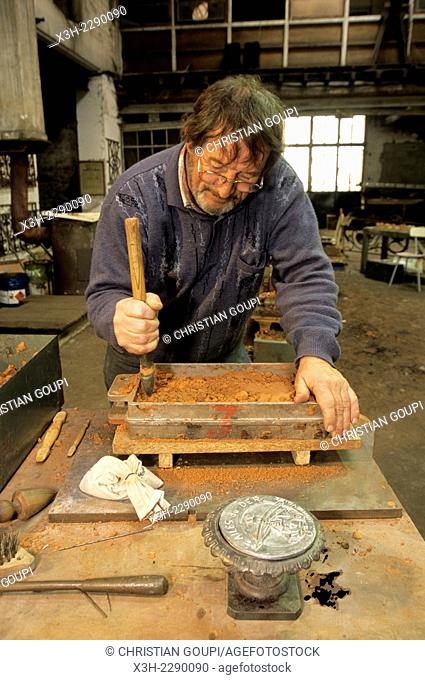artistic foundry at Osne-le-Val, Haute-Marne department, Champagne-Ardenne region, France, Europe