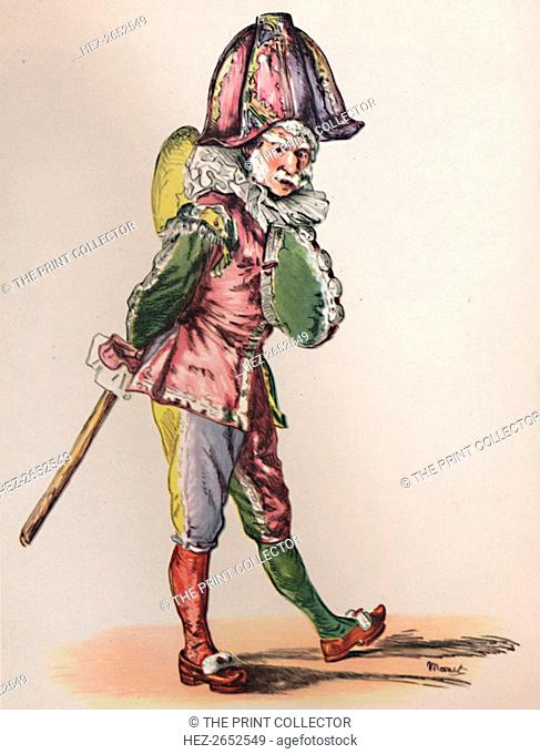 'Punch', 1874-1876, (1946). The face of Punch (or Polichinelle in the Commedia dell'Arte), resembles that of the conservative president of the Third Republic