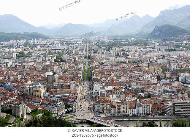 City of Grenoble, Isère, Rhône-Alpes, France