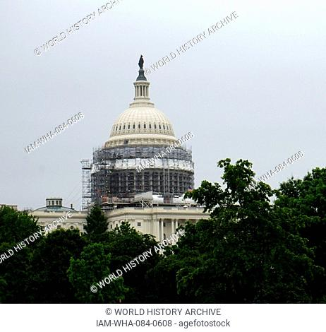 Exterior of the United States Capitol building, in Washington D.C. Dated 21st Century