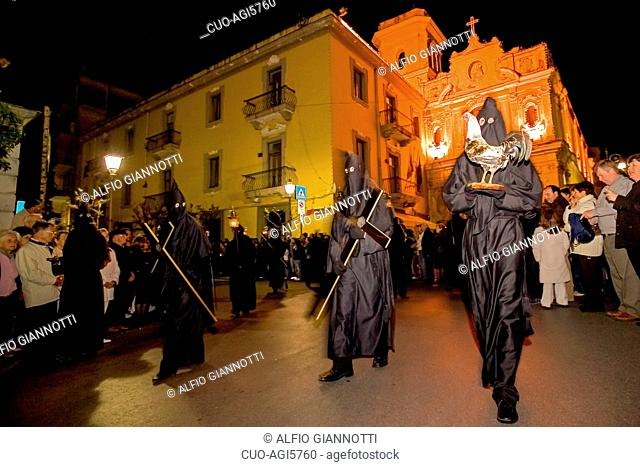 Good Friday procession, Sorrento, Campania, Italy, Europe