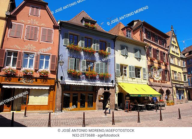 Colmar, Half-timbered Houses, Old Town, Alsace, Wine Route, Alsace Wine Route, Haut-Rhin, France, Europe