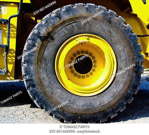 Close up to tire
