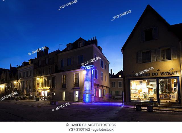 Street of Chartres, Eure-et-Loir, Centre-Val de Loire, France