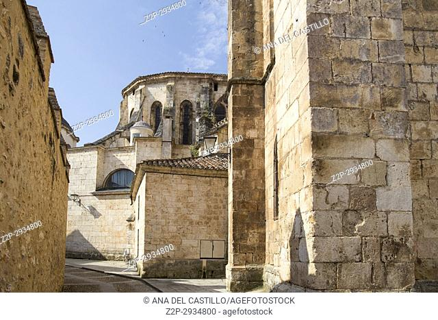 Cathedral in Burgo de Osma village Soria province Castile Leon Spain