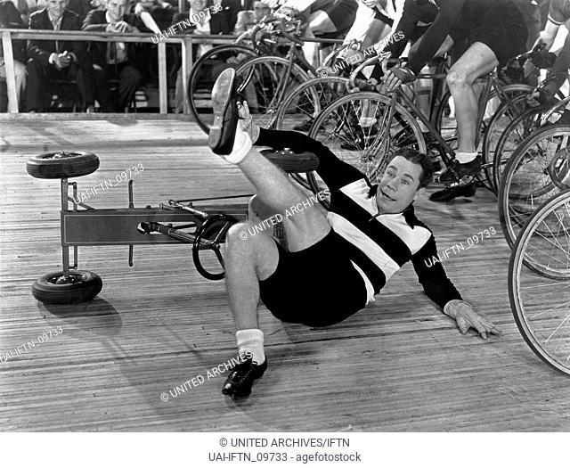 6 Day Bike Rider, aka: Der Schrecken der Rennbahn, USA 1934, Regie: Lloyd Bacon, Darsteller: Joe E. Brown