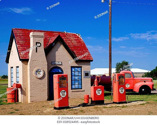 Historic Gas Station( anno 1928),Mc Lean,Texas,Route 66