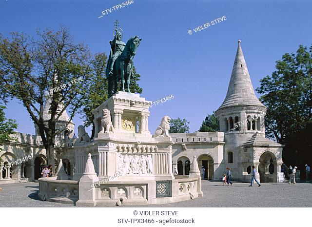 Buda, Budapest, Fishermen's bastion, Heritage, Holiday, Hungary, Europe, Landmark, Statue, Stephen, Tourism, Travel, Unesco, Vac