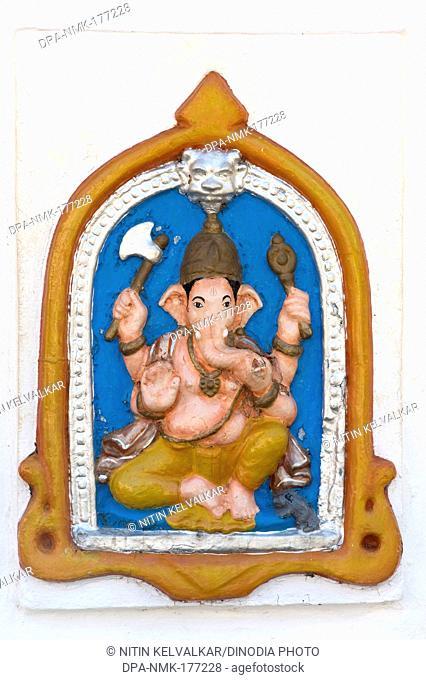 Sculpture of lord ganesh at priol , Ponda , Goa , India